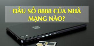 Đầu số 0888 của nhà mạng Vinaphone